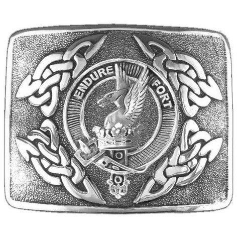 Image of Lindsay  Clan Crest Interlace Kilt Buckle | 1stScotland