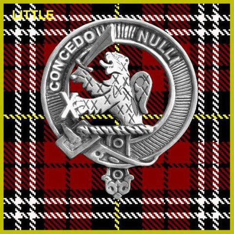 Little Tartan Clan Crest Scottish Cap Badge