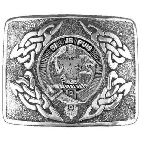 Image of Livingston Clan Crest Interlace Kilt Buckle | 1stScotland