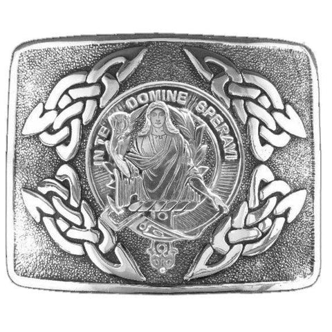 Image of Lyon Clan Crest Interlace Kilt Buckle | 1stScotland