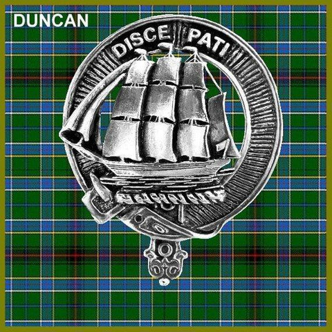 Duncan Tartan Clan Crest Badge Leather Sporran