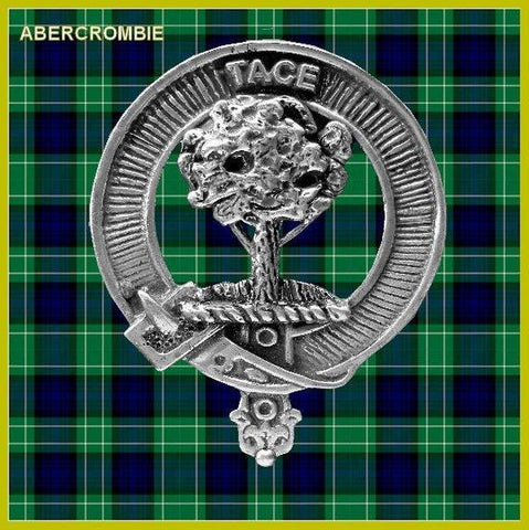 Abercrombie Tartan Clan Crest Scottish Cap Badge
