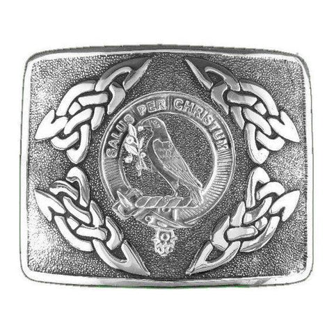 Image of Abernethy Clan Crest Interlace Kilt Buckle | 1stScotland