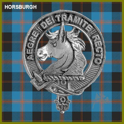 Horsburgh Tartan Clan Crest Scottish Cap Badge