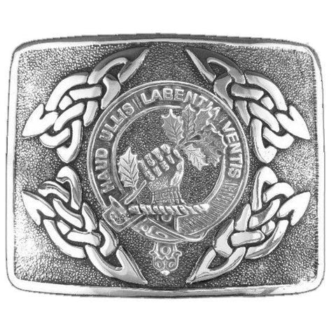Irvine (Bonshaw) Clan Crest Interlace Kilt Buckle | 1stScotland