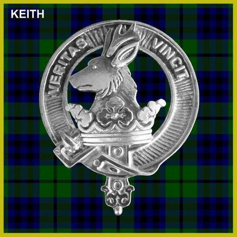 Keith Tartan Clan Crest Interlace Kilt Belt Buckle