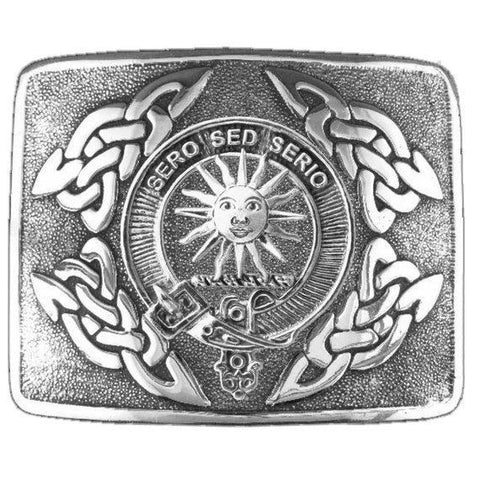 Image of Kerr Clan Crest Interlace Kilt Buckle | 1stScotland