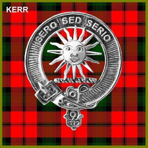 Kerr Tartan Clan Crest Interlace Kilt Belt Buckle