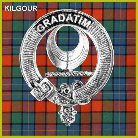 Kilgour Tartan Clan Crest Interlace Kilt Belt Buckle