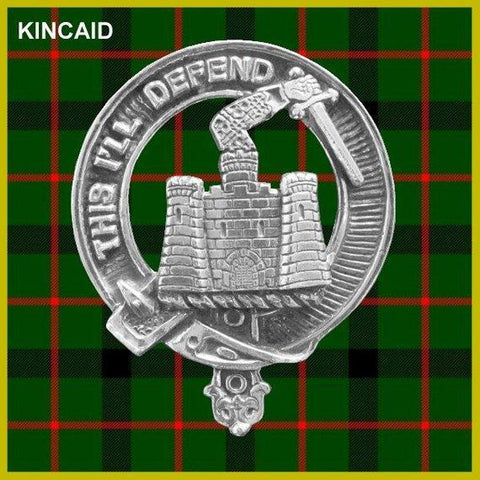 Kincaid Tartan Clan Crest Scottish Cap Badge