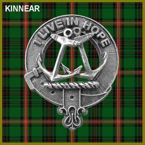 Kinnear Tartan Clan Crest Interlace Kilt Belt Buckle