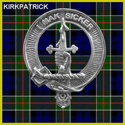 Kirkpatrick Tartan Clan Crest Scottish Cap Badge