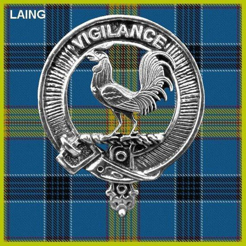 Laing Tartan Clan Crest Interlace Kilt Belt Buckle