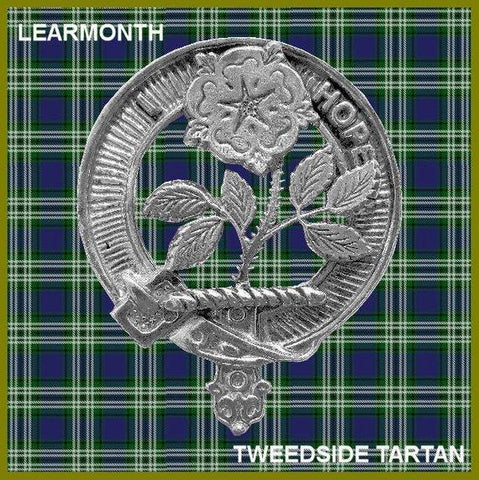 Learmont Tartan Clan Crest Interlace Kilt Belt Buckle