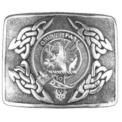 Image of Leslie Clan Crest Interlace Kilt Buckle | 1stScotland