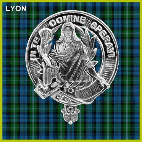 Lyon Tartan Clan Crest Interlace Kilt Belt Buckle