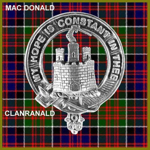 MacDonald (Clanranald) Tartan Clan Crest Scottish Cap Badge