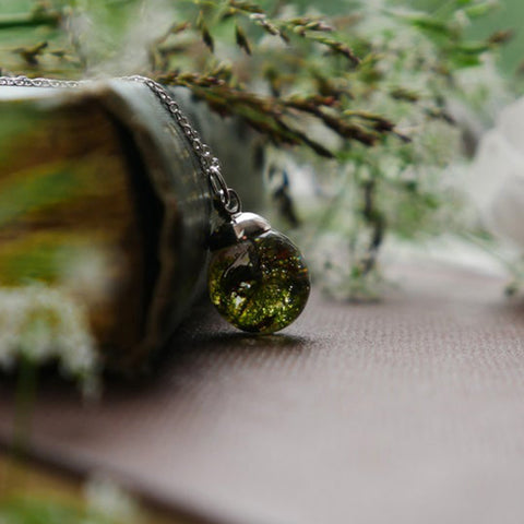 Highland Moss Sterling Silver Necklace - Handmade in Scotland