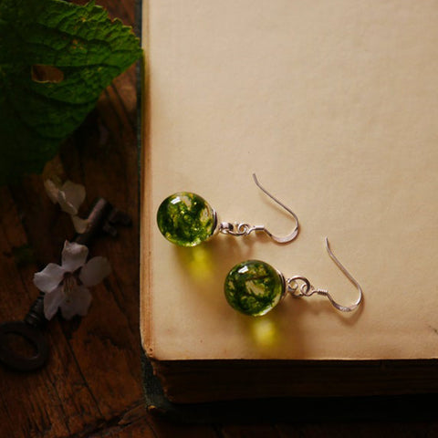 Wallace Monument Moss Sterling Silver Earrings - Handmade in Scotland