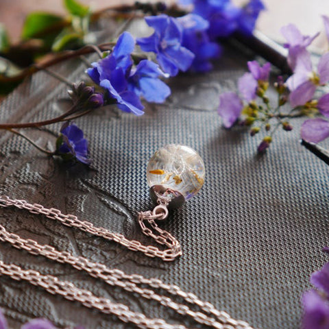 Image of Loch Ness Dandelion Seed Sterling Silver Necklace - Handmade in Scotland