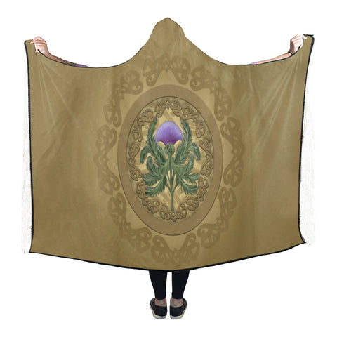 Luxurious Thistle Scottish - Hooded Blanket | Special Custom Design