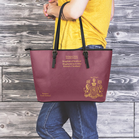 Scotland Passport - Leather Tote Bag | HOT Sale