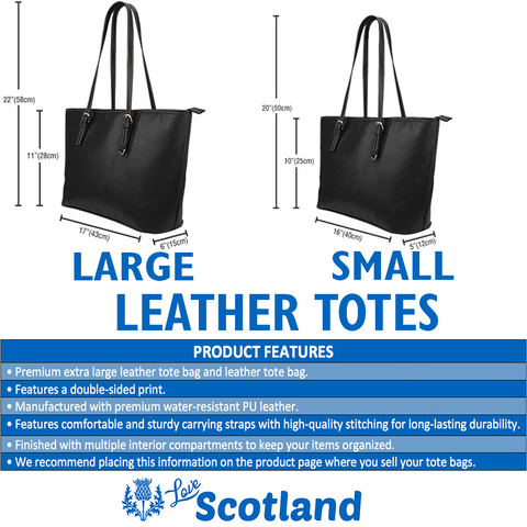 Image of Thistle Leather Tote Bag