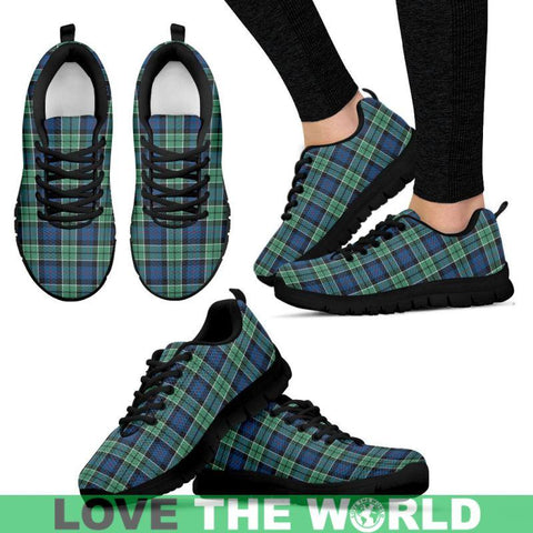 Image of Leslie Hunting Ancient Tartan Sneakers - Bn Mens Sneakers Black 1 / Us5 (Eu38)