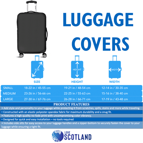 Scotland Luggage Covers - Thistle Celtic Royal Purple A24
