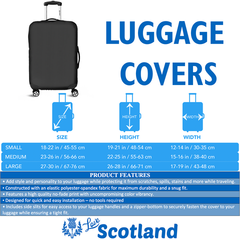 Image of Scotland Thistle Flag - Luggage Cover