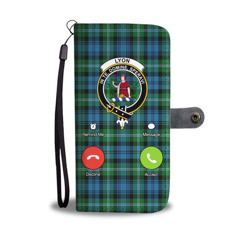 Tartan Wallet Case - Lyon Is Calling | Scottish Wallet Case | 1stScotlands