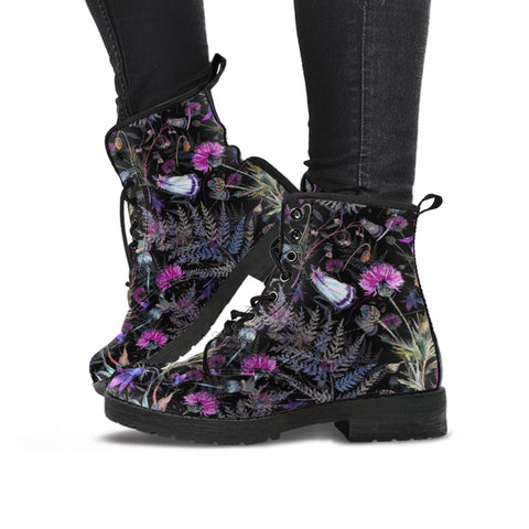 Dark Thistle - Leather Boots