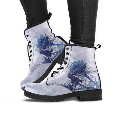 Luxury Blue Thistle - Leather Boots