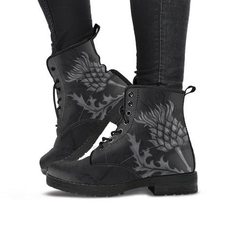 Image of Scottish Thistle Dark Edition - Scotland Leather Boots