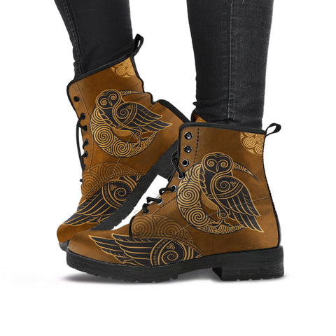 Celtic Owl - Leather Boots