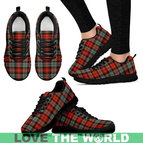 Image of Maclachlan Weathered Tartan Sneakers - Bn Mens Sneakers Black 1 / Us5 (Eu38)