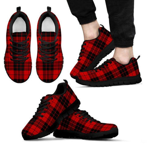 Image of Macleod Of Raasay Tartan Sneakers - Bn Mens Sneakers Black 1 / Us5 (Eu38)