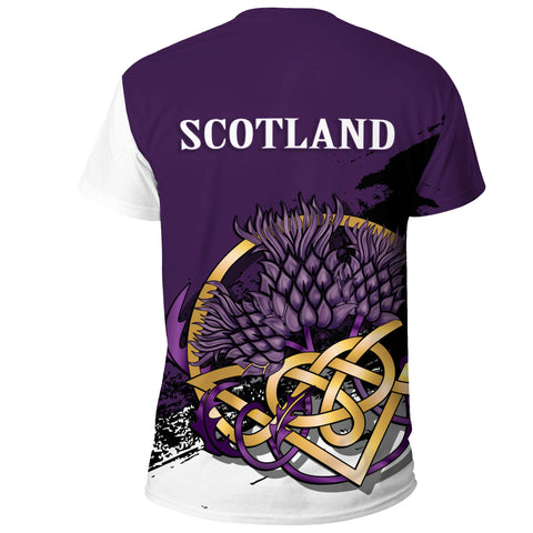 Scotland T Shirt - Thistle Celtic Knot Purple | Love Scotland