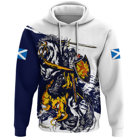Image of Scotland Hoodie, Scottish Knight Flag A10