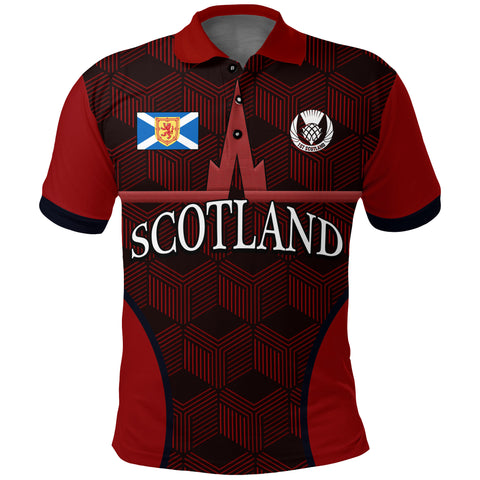 (Custom) 1stScotland Polo Shirt, Falkirk Scotland Football (Red)