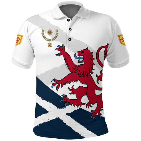 1stScotland Polo Shirt, Order of the Thistle Rampant Lion | 1stscotland