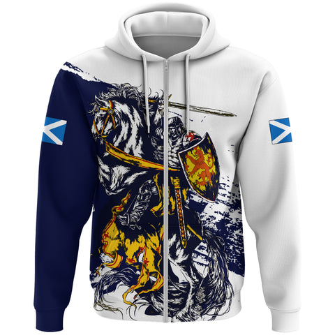 Image of Scotland Hoodie Zip, Scottish Knight Flag A10
