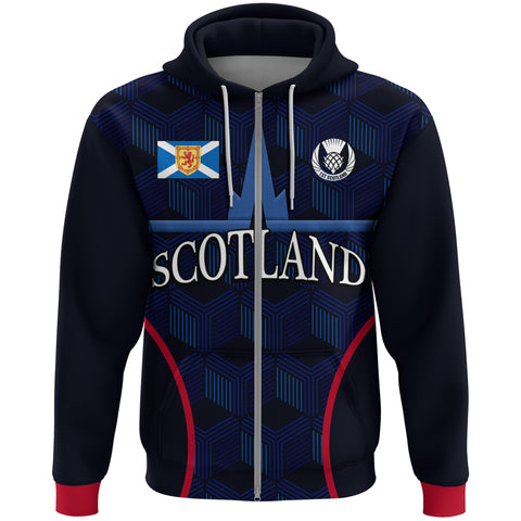 Image of (Custom) 1stScotland Zip Hoodie, Falkirk Scotland Football | 1stscotland