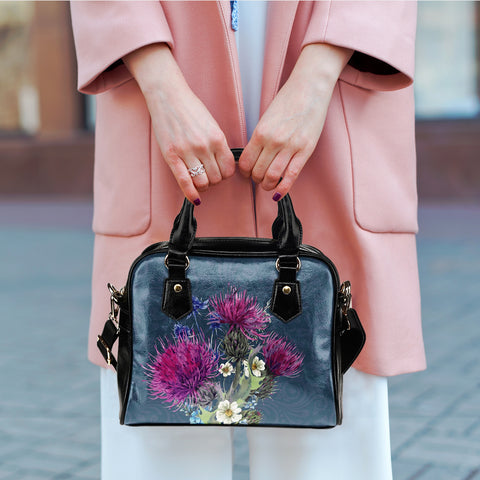 Thistle Flower - Shoulder Handbag | Special Custom Design