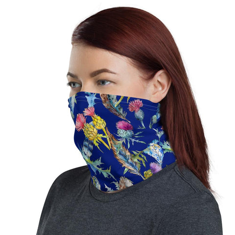Image of Scotland Neck Gaiter -  Feathers Thistle Pattern | Love Scotland