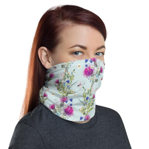 Image of Scotland Neck Gaiter - Thistle Painting Pattern | Love Scotland