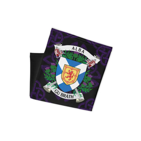Scotland Neck Gaiter - Flag And Royal Arms Celtic Thistle | Love Scotland