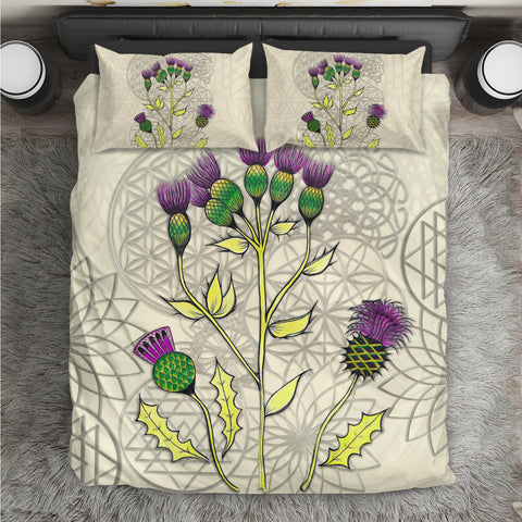 Image of Luxury Scottish Thistle - Scotland Duvet Cover | Hot Sale