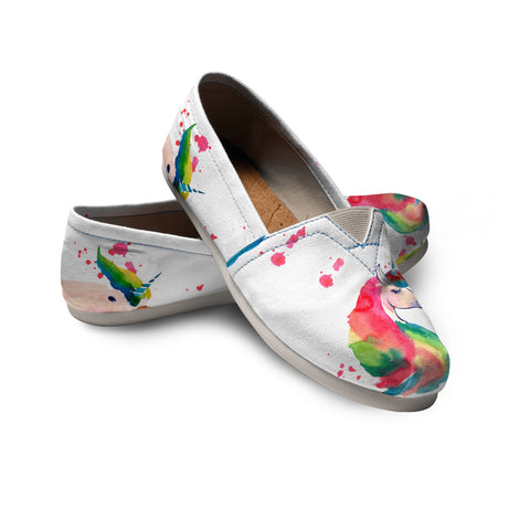 Unicorn Color - Scotland Women's Casual Shoes | Special Custom Design