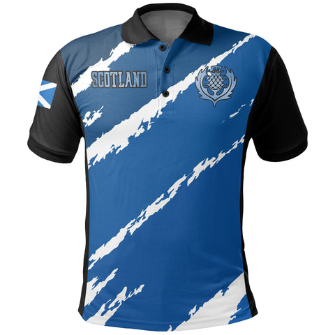 Image of Scottish Brush Thistle Polo Shirt | Women & Men | Clothing